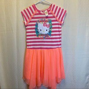 Hello Kitty short sleeve dress with tool skirt